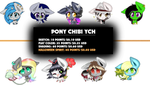 [CLOSED] Pony Chibi YCH by Bolties