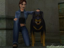 Lara and Rotweiler by that-damn-ash-kid