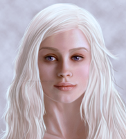 Emilia Clarke as Daenerys Targaryen by MarinaSchiffer
