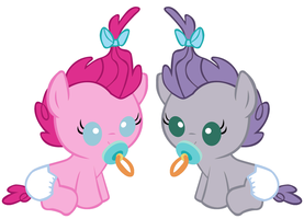 Two Pies with Pacifiers by 3D4D
