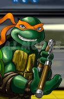 TMNT Michelangelo-by AJ Moore by GudFit