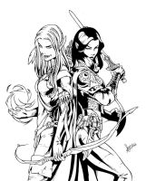 Warrior women inks by sean-izaakse