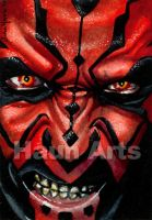 Darth Maul Skatch card by JohnHaunLE