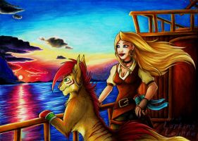 Art Trade - Dawn on Voyage by Lurking-Leanne