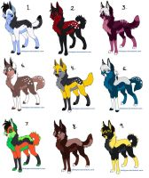 Even More Wolf Adopts1 by RukaSwift