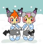 Snow bunnies by Tainted-Scribbles