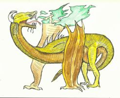 Fafnir, the golden dragon of the cavern by Nuevolucion