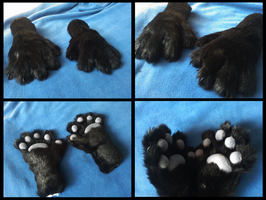 Darkfox Handpaws by CuriousCreatures