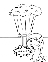 BEHOLD! Derpy's Masterpiece - The Great Muffin by BoxedSurprise