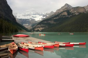 Boats At Lake Louise AB Canada by rdw283