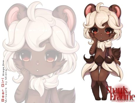 Bear Girl Stage One Colour by delmorpha