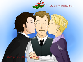 Mary Christmas and a Holmes New Year by SarlyneART