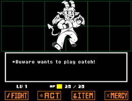 Buwaro as an Undertale Enemy by raizy