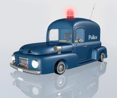 Cartoon police car by Ventapane