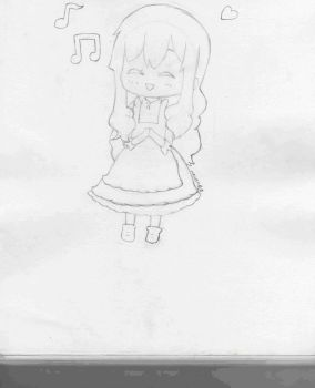 Mary-pencil version-Kagerou project by mrneko-12