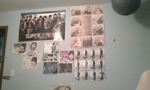 My Whole Wall With My New Poster by SungminHiroto
