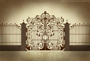 Iron gate design 1 by Industrial-Forest