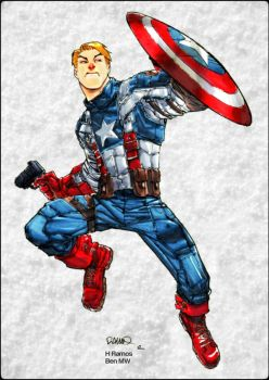 Cold Captain America by BenComics