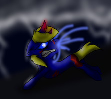 Angry Caboose pony by Ashlynnii