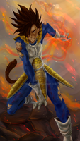 DBZ - Grown up under Ruins - The Almighty Flame by RedViolett