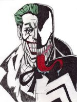 joker and venom drawing by IGMAN51