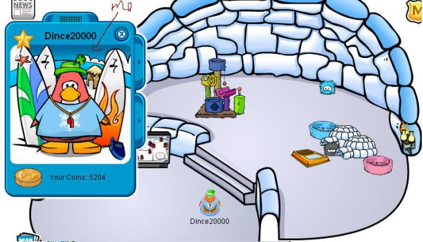 My igloo on Club Penguin by Dince13