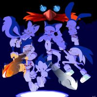 Sonic- Group attempt by Artfrog75