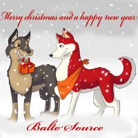 merry christmas balto source by Mystik-wolf91