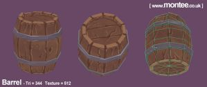 Pirate Scene WIP - Wooden Barrel by FollowMontee