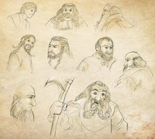 Hobbit sketches by RiverCreek