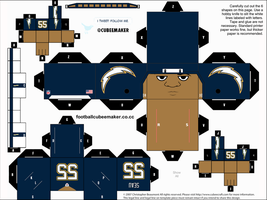 Junior Seau Chargers Cubee by etchings13