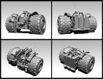 VA-17 Heavy technical vehicle concept (WIP 2) by VladimirAranovich