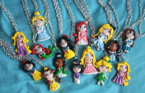 FIMO CREATIONS. DISNEY PRINCESS by Phadme