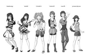 CC3 Contestants - some of them by Xarity