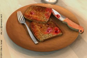 Toast with Jam by H-o-t-G-o-d