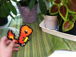 Perler Bead Charmander Doll by Idellechi