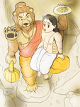 Narasimha and Prahlada - The pole savior by VachalenXEON