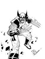 Savage Wolverine Pre-order sketch inks by JoeyVazquez