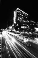 Light Trails BW by comsic