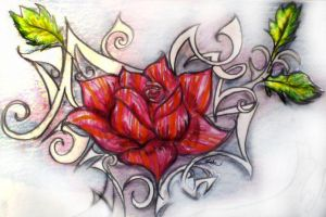 Tattoo rose by H-o-s-t