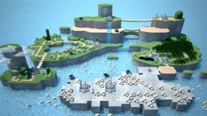 Super Mario World 3D by webcat