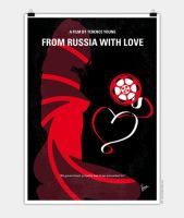 No277-007 My from Russia with love minimal poster by Chungkong