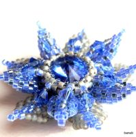 Crystal Flower - Sapphire Blue by gordissima