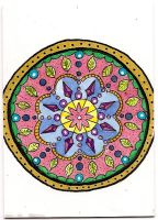 ATC Mandala Sprout by claudiamm37