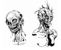 Zombies inks by JosephLSilver