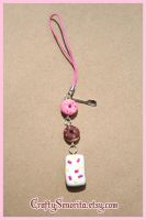 Donut Poptart Cell Phone Strap by Tonya-TJPhotography