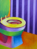 Rainbow Toilet by WingedLioness