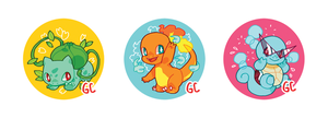pokemon buttons by genicecream