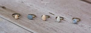 Rings with Found Stones by Folksaga