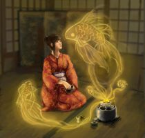 enchanted tea ceremony by Venty-chan
